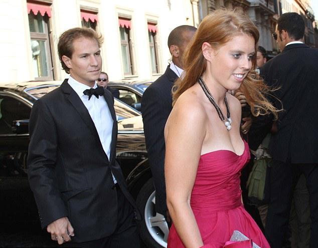 Dave Clark e a Princesa Beatrice