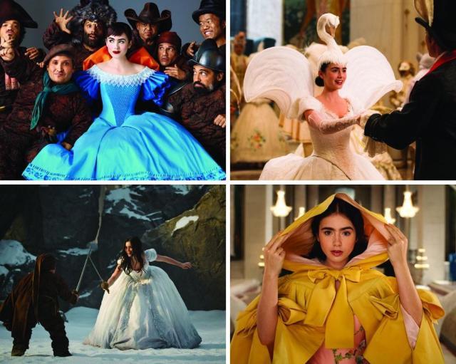 Lily Collins como Branca de Neve